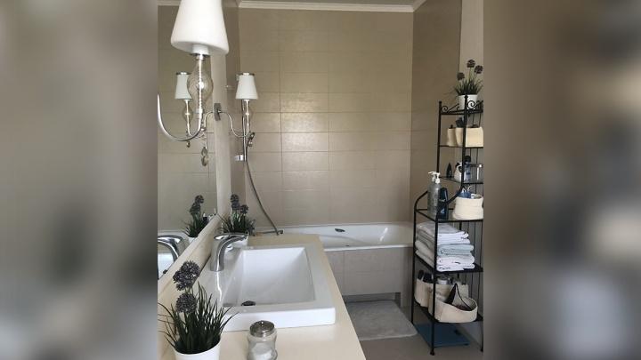 Восточная сказка в частном доме: ремонт ванных для гостей и личного пользования