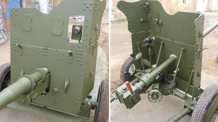 Омич собрал и выставил на продажу противотанковую пушку
