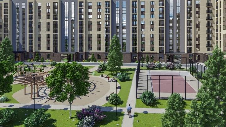 Вблизи соснового бора в Калининском районе началось строительство жилого комплекса