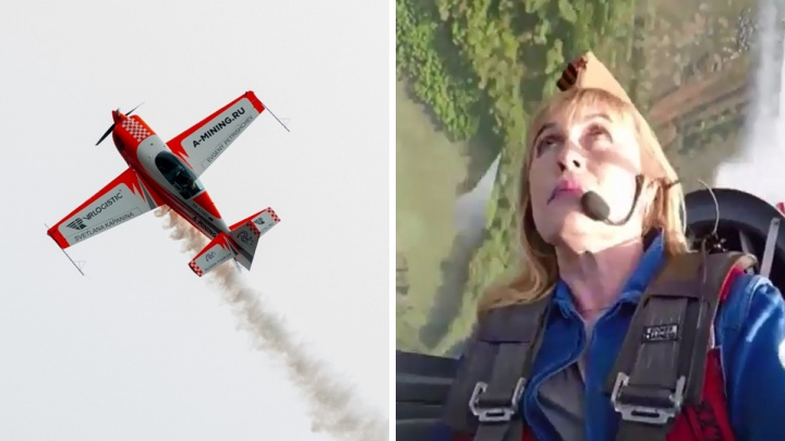 «Богиня неба!»Женщина-пилот показала, как делала фигуры над Ярославлем. Видео из кабины самолёта