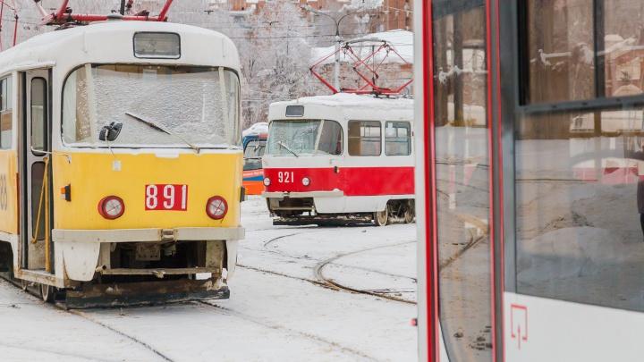 На пересечении трамвайных путей на Ново-Садовой — Ново-Вокзальной установят автоматическую стрелку