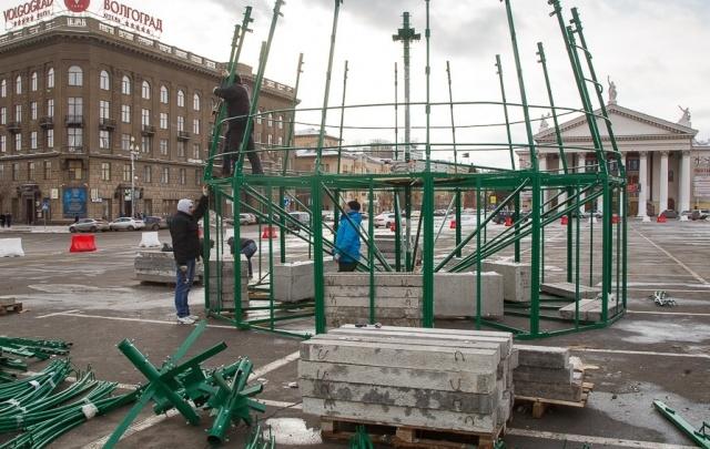 Главную елку Волгограда смонтируют за 876 тысяч рублей