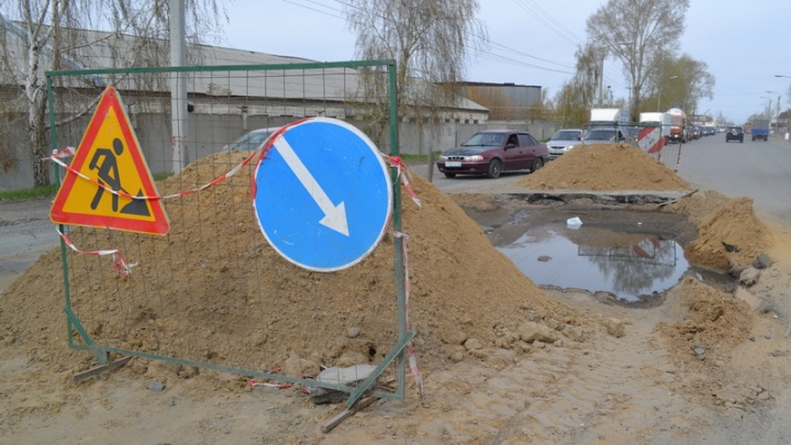 Улицу Омскую в Кургане закрывают для движения транспорта до конца августа
