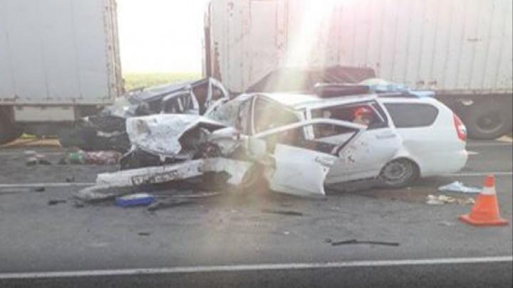 Под Волгоградом в столкновении КАМАЗа и двух легковушек погибли пять человек