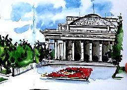 Испанская художница нарисовала Новосибирск