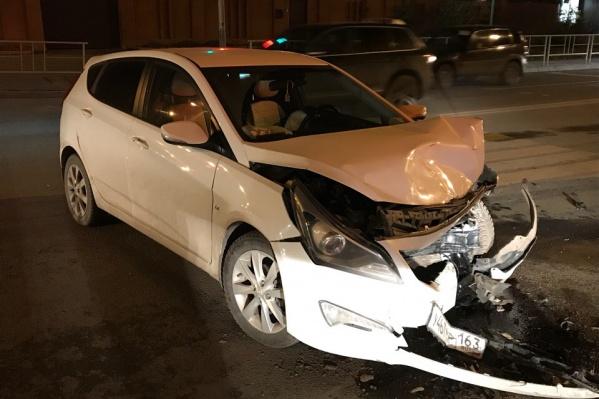 Машина получила серьезные механические повреждения