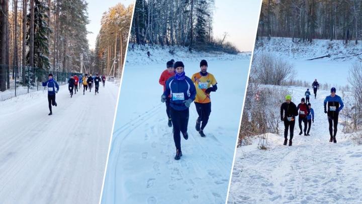 21 километр по лесу. Тюменцы устроили зимний забег в окрестностях города