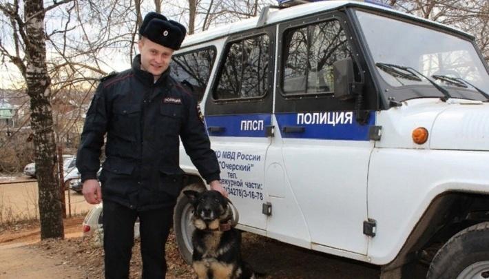 Взяла след: в Прикамье полицейская собака нашла пропавшего мужчину