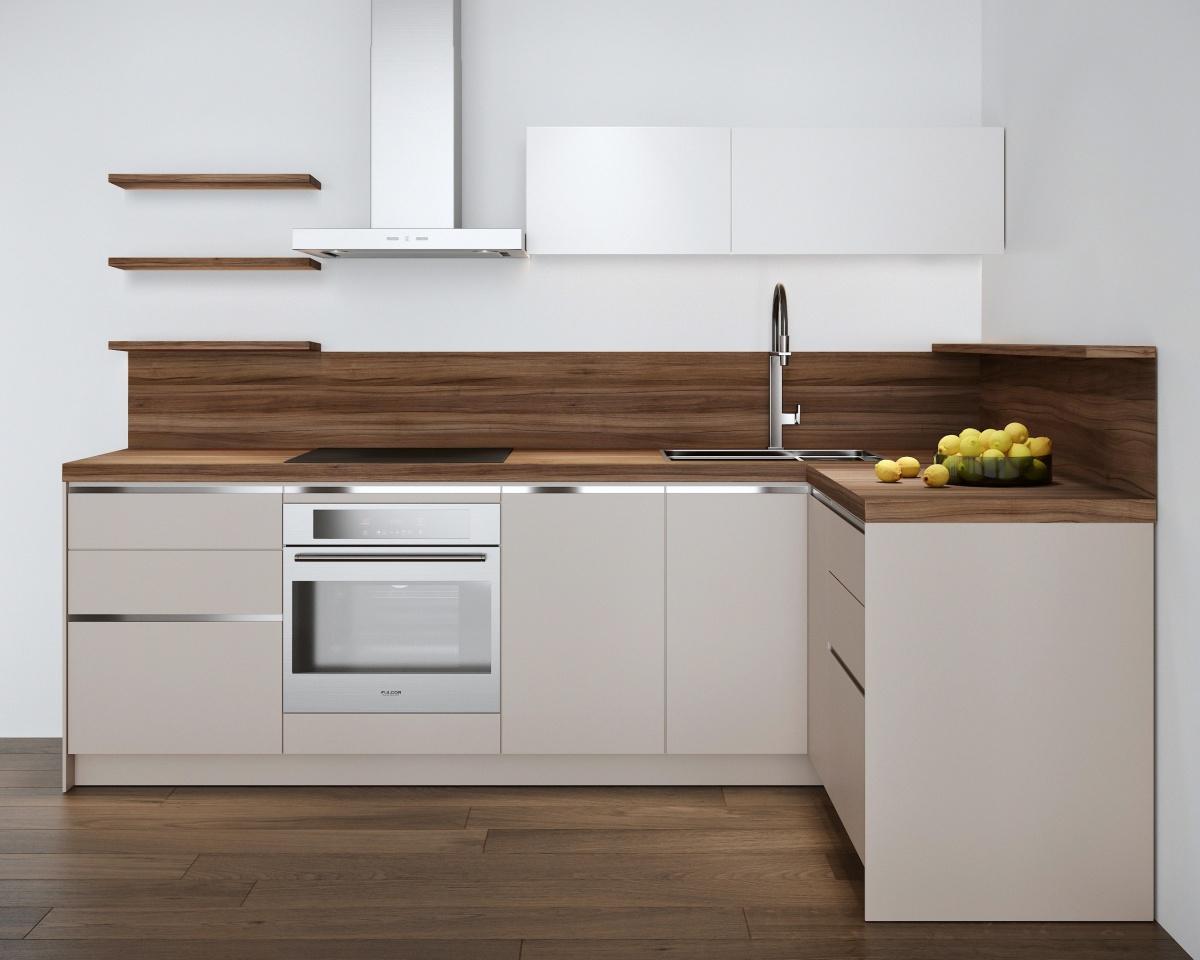 Один из вариантов кухонь в стиле модерн, которые устанавливаются в квартирах от «Атомстройкомплекса»
