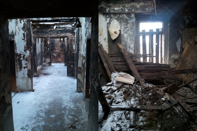 Внутри дома оказалась полная разруха