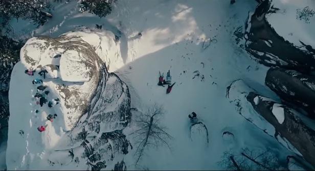 Захватывающее дух видео сняли на «Столбах» с высоты