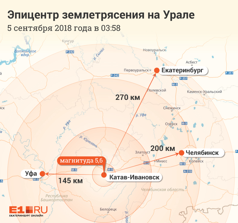 Землетрясение на Урале в режиме онлайн: первые видео, карта, эмоции людей