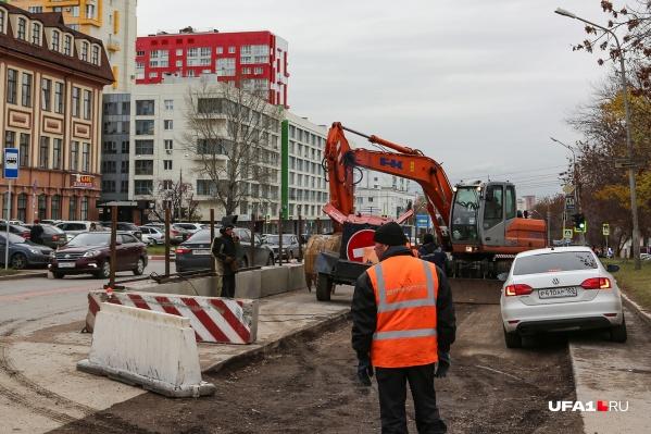 Реконструкция дороги на улице Комсомольской уже идет полным ходом