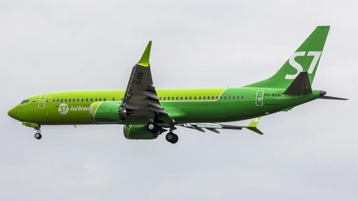 У S7 появился первый в России Boeing нового поколения — он будет летать на рейсах из Новосибирска