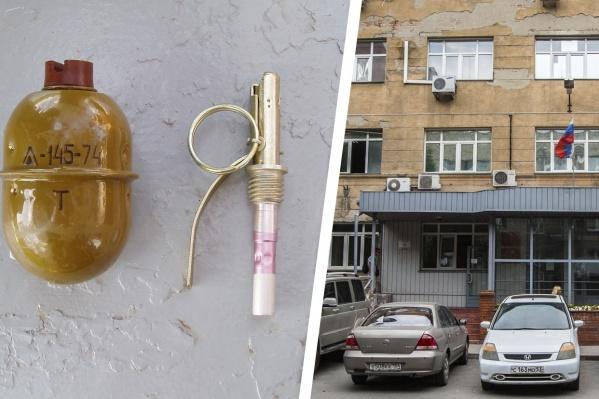 Подсудимый получил условный срок за взрыв гранаты в Центральном районе города — приговор в законную силу ещё не вступил