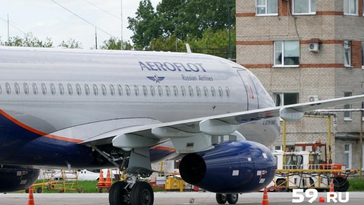 В пермском аэропорту на три часа задержали рейс в Москву