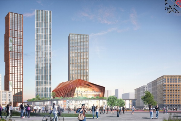 Общий вид на будущий «Пермь-Сити». Проект