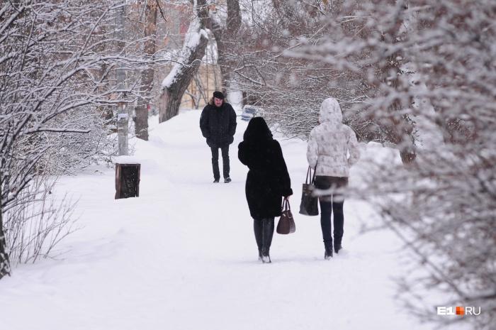 В Екатеринбург возвращается зима