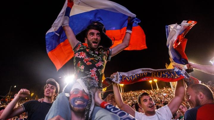 Сборная России в плей-офф ЧМ-2018: тысячи ликующих волгоградцев празднуют победу