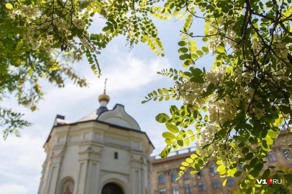 А вот днем Волгоград еще погреется на солнце