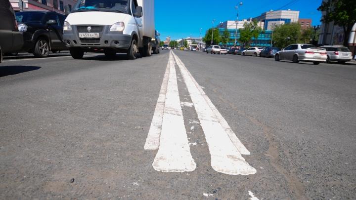 Сплошные разделительные полосы на дорогах России предложили перекрасить из белого в жёлтый