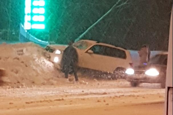 Водитель не справился с управлением в такую погоду