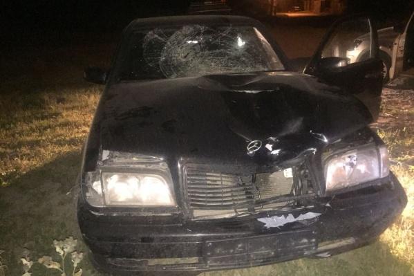 Водителя «Мерседеса»автоинспекторы нашли в частном секторе недалеко от Юго-Западного жилмассива