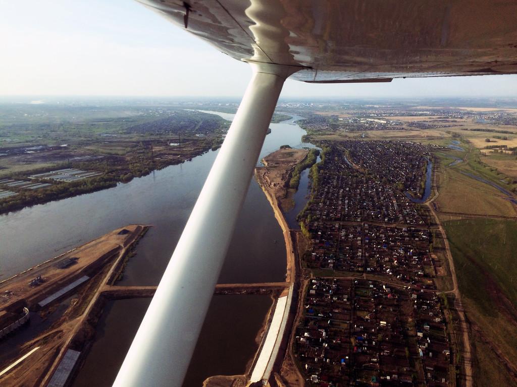 Полет из Омска в Новосибирск