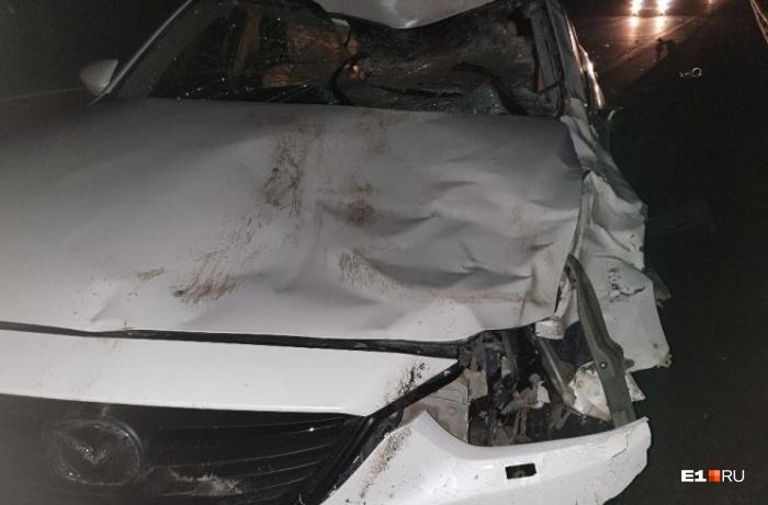 Машина серьёзно пострадала в ДТП