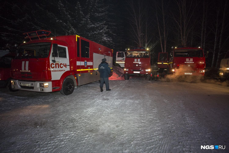 В Бердск направили всех свободных сотрудников экстренных служб