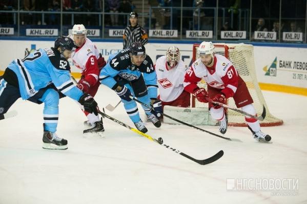 «Сибирь» против «Спартака» в ноябре 2016 года