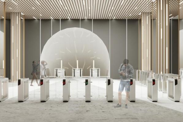 Так по эскизам будет выглядеть вестибюль станции «Проспект Мира»