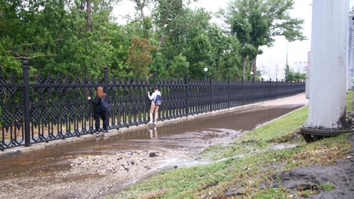 Коммунальные службы рассказали, кто виноват в прорыве на Московском шоссе