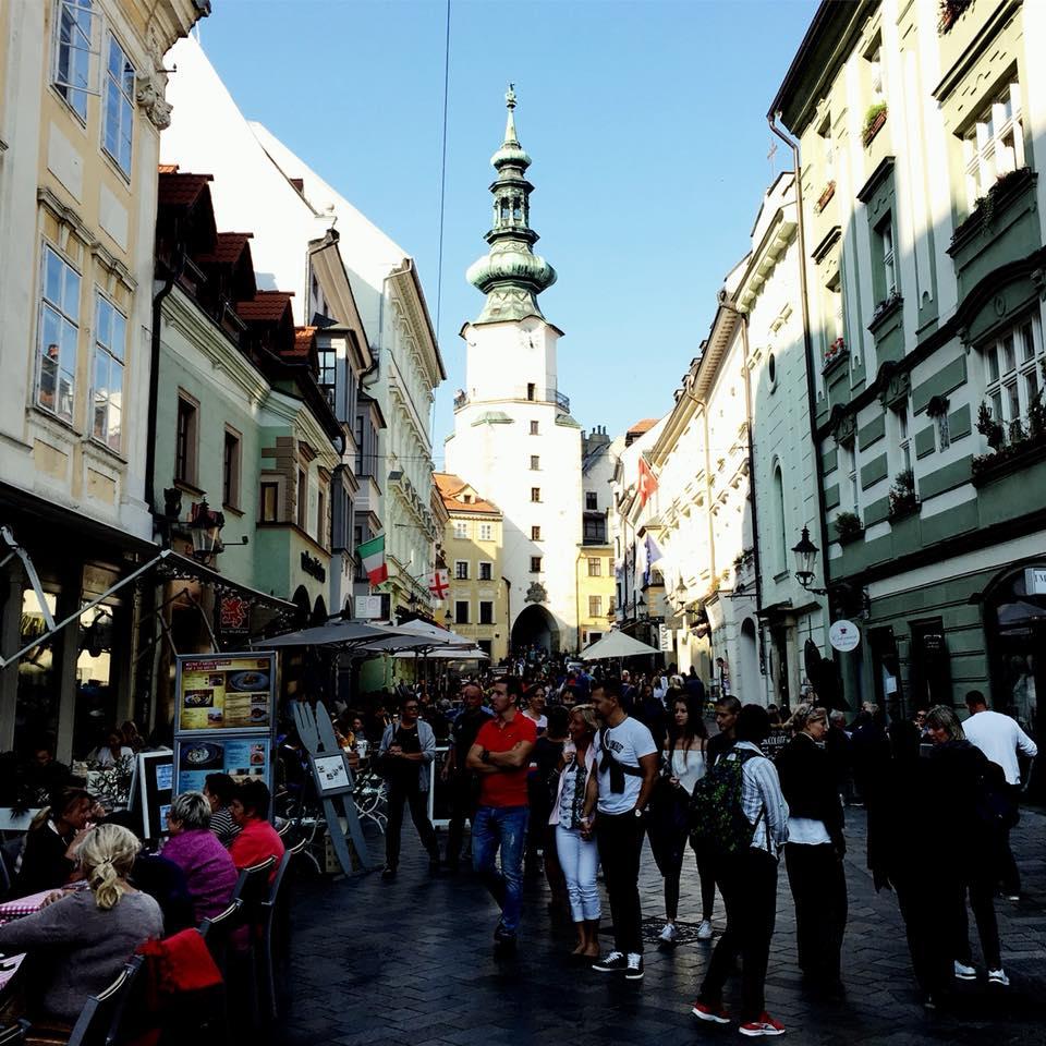 Улицы Братиславы в октябре