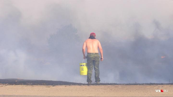 Страшные природные пожары снова угрожают Волгоградской области
