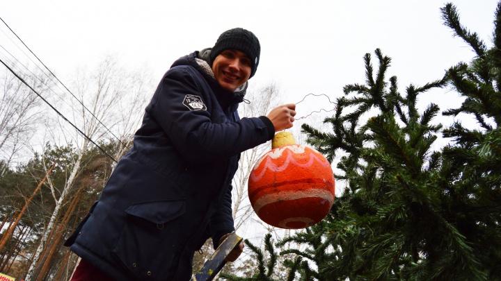 Новый год к нам мчится: в парке Маяковского украсили ёлку