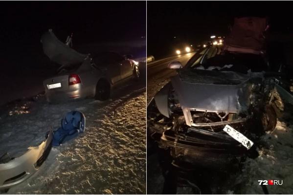 Авария произошла в шестом часу вечера в Омутинском районе. Тяжелые травмы получили дети, находившиеся в одной из машин