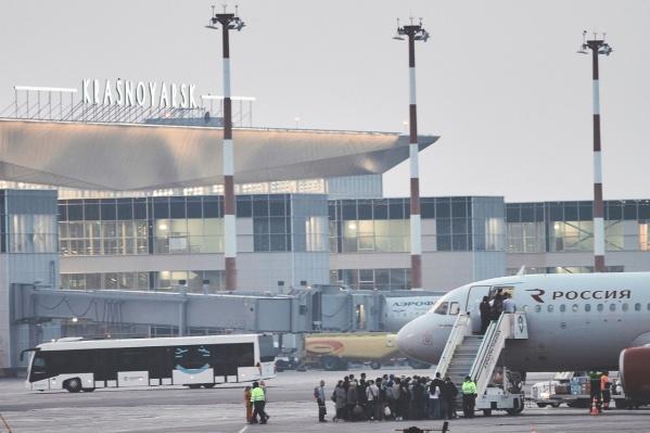 Пунктуальность в аэропорту означает, что задержки вылета свыше чем на 15 минут для Красноярска редкость