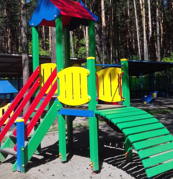 Новая горка в детском саду  № 45  компании«ЮМАГС»