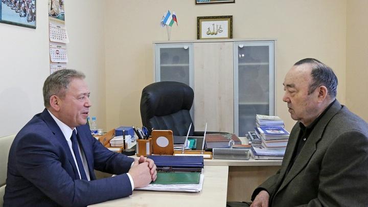«Беседа в дружеском формате»: мэр Уфы Ульфат Мустафин встретился с Муртазой Рахимовым