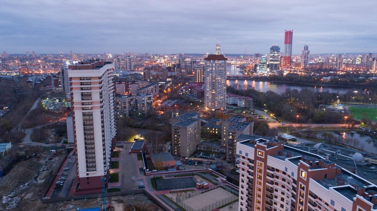 Вечерний вид на центр города