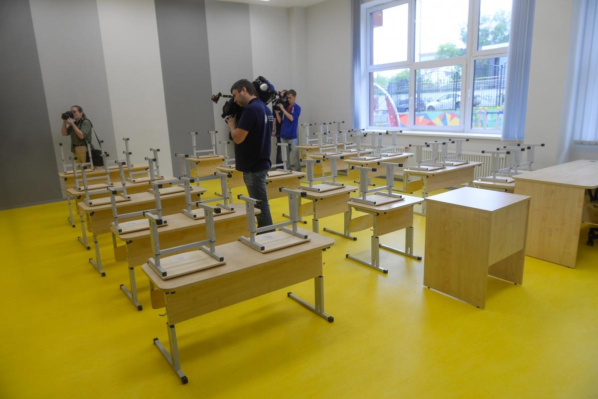 А так сейчас выглядит класс — на новый учебный год набрали десять первых классов по 30 человек в каждом