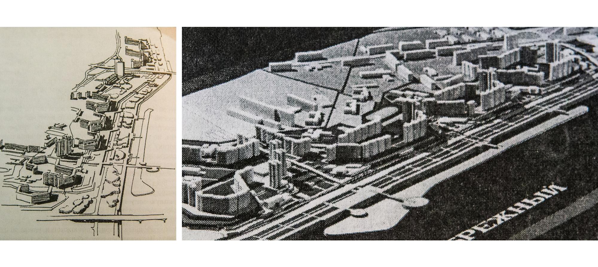 Проект застройки «Прибрежного» 1980-х годов