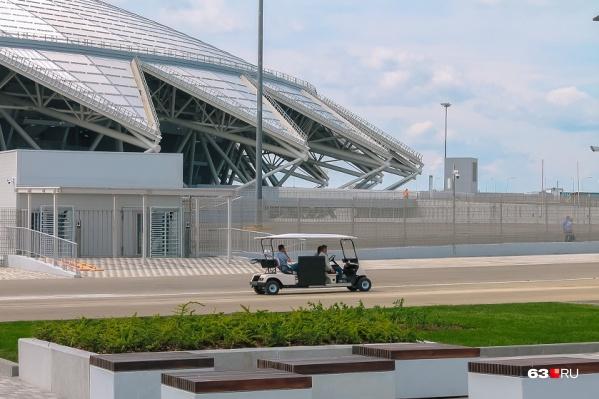 Стадион ввели в эксплуатацию в апреле 2018 года