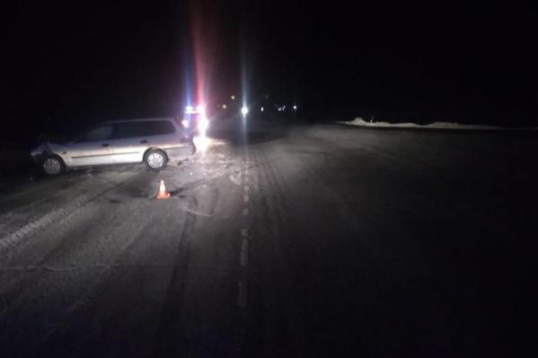 В аварии пострадали четыре человека, в том числе оба водителя