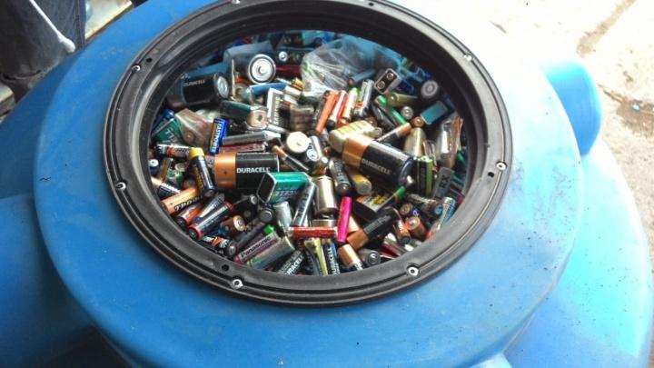 Тринадцатая тонна батареек отправлена на переработку