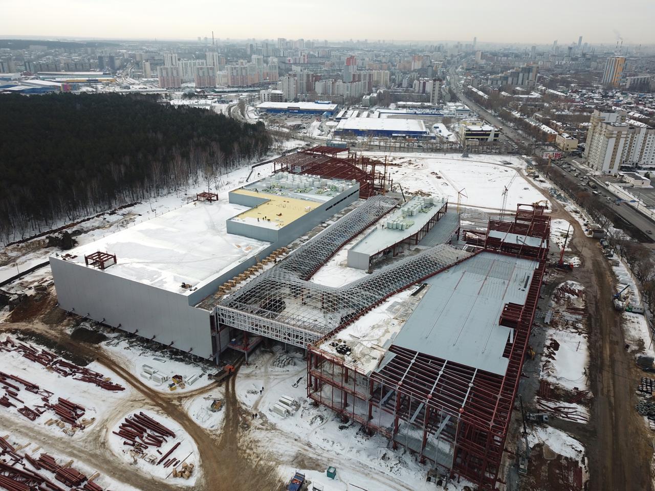 Так строящийся центр выглядел в апреле 2019 года