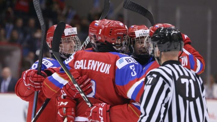 Бились до последнего: на чемпионате мира в Челябинске российские юниоры вырвали победу у Словакии