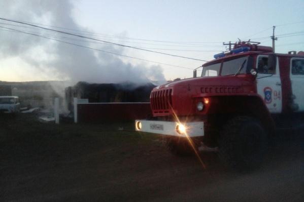 Площадь пожара составила 110 квадратных метров