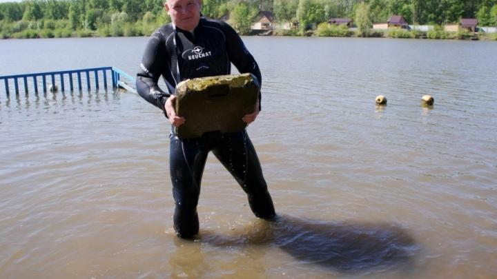 В Уфе спасатели  очистили дно озера Теплого